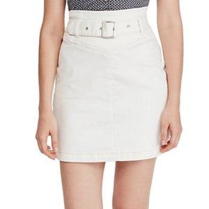 Free People Livin It Up Belted Pencil Skirt. 0